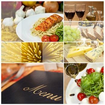 Speisekarte mit traditionellen Gerichten