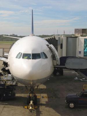 Flugzeug vor dem Start